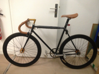 Fixie Black Brown + Kit Complet