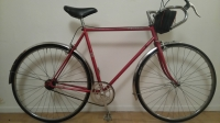 Vélo Peugeot Rouge Single Speed Cadre Carbolite