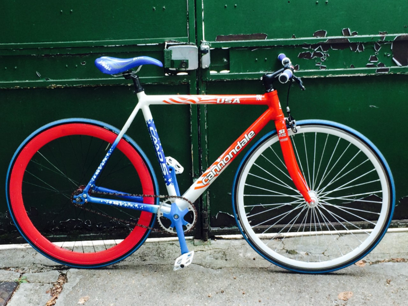 Fixie cannondale collector caad 5 , 9/11 commemorative
